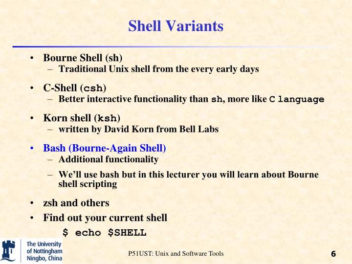 Shell Variants