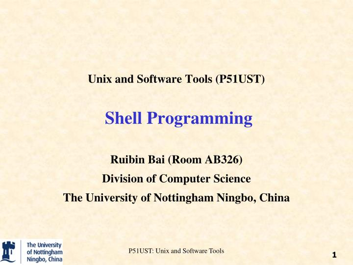 unix and software tools p51ust shell programming