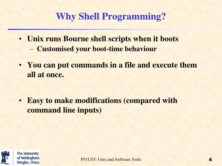 Why Shell Programming?