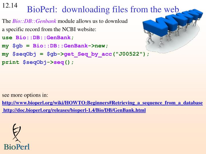BioPerl:  downloading files from the web