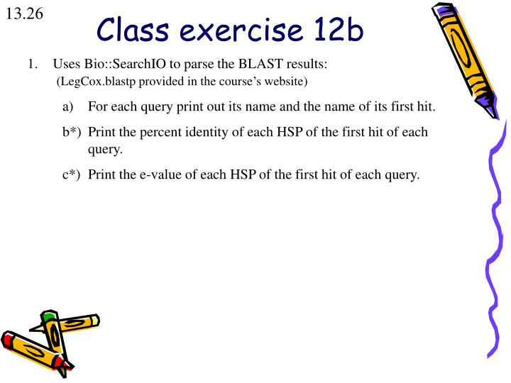 Class exercise 12b
