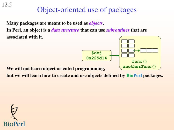 Object-oriented use of packages
