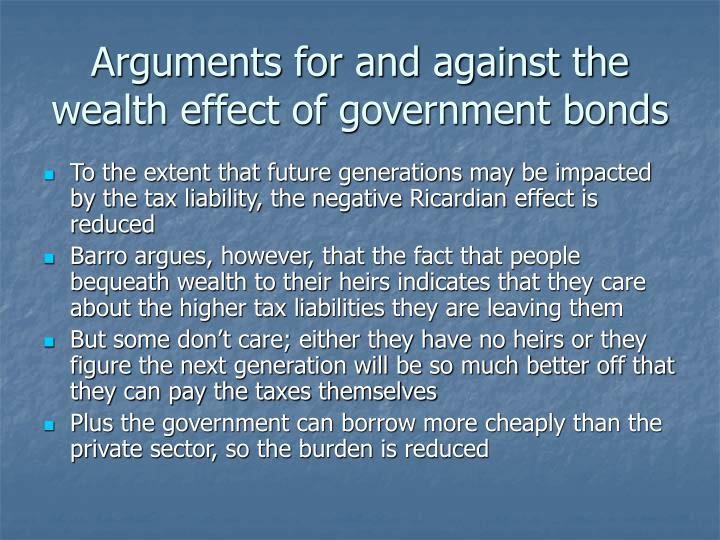 Arguments for and against the wealth effect of government bonds