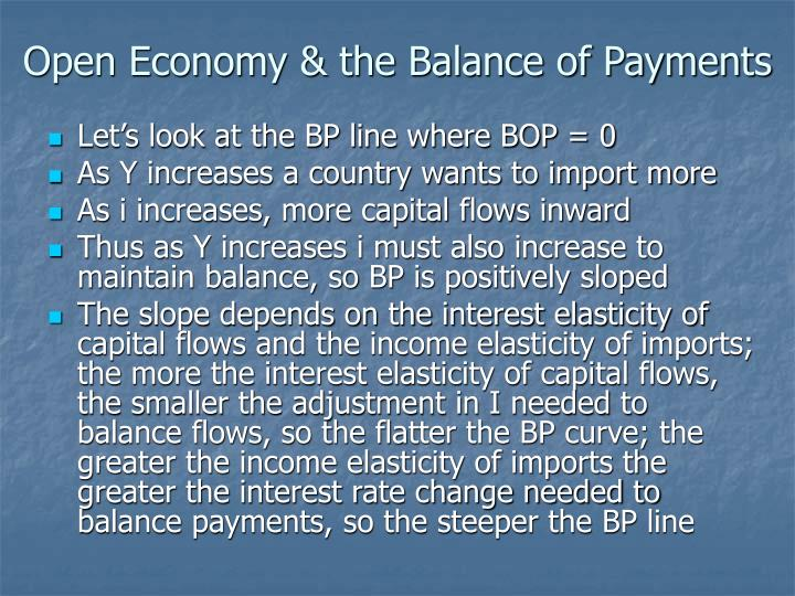 Open Economy & the Balance of Payments