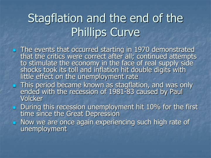 Stagflation and the end of the Phillips Curve
