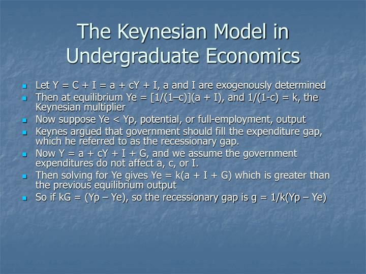 The Keynesian Model in Undergraduate Economics