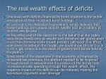 the real wealth effects of deficits