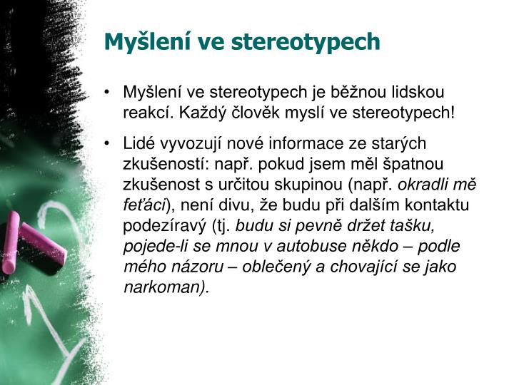 Myšlení ve stereotypech