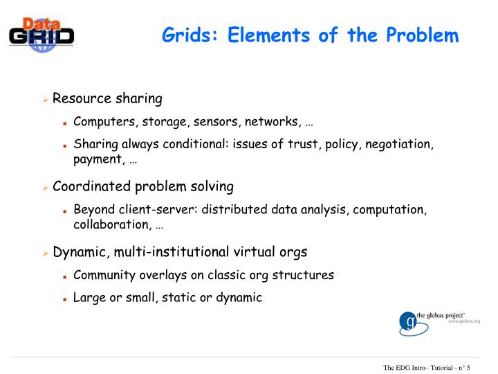 Grids: Elements of the Problem