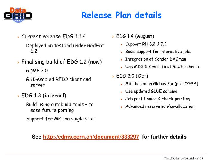 Current release EDG 1.1.4