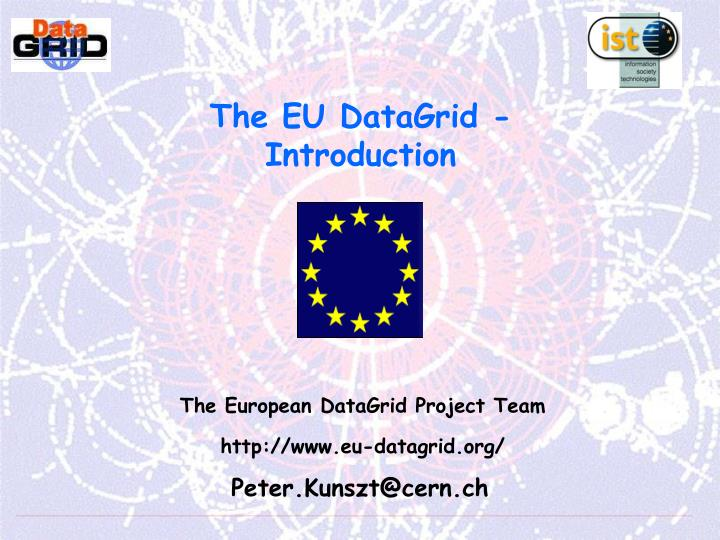 The eu datagrid introduction