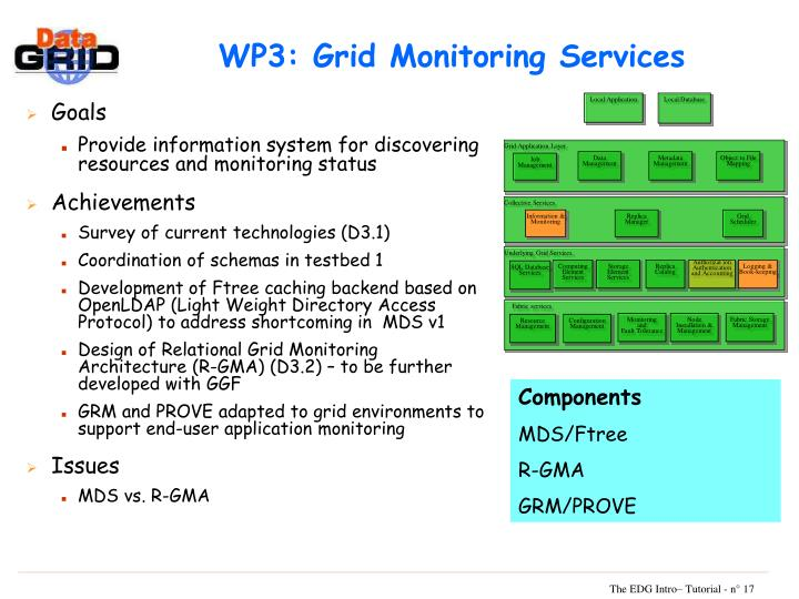 WP3: Grid Monitoring Services