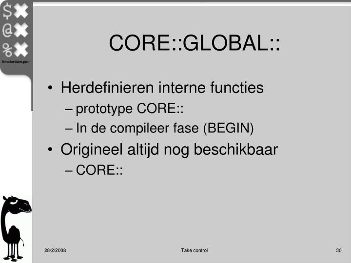 CORE::GLOBAL::