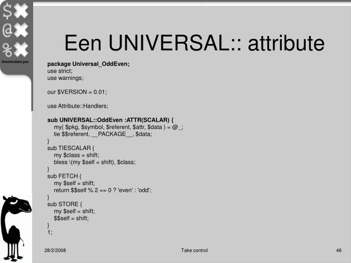 Een UNIVERSAL:: attribute