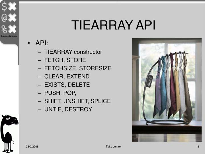 TIEARRAY API