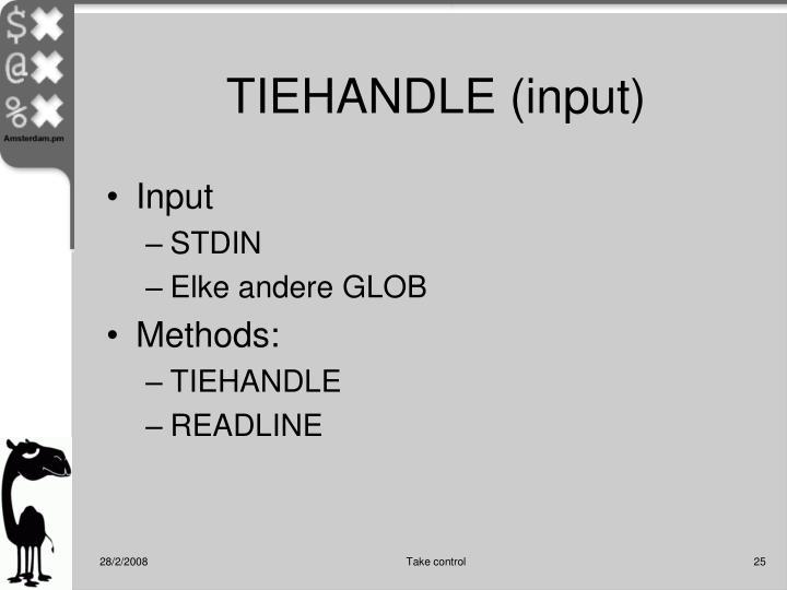 TIEHANDLE (input)