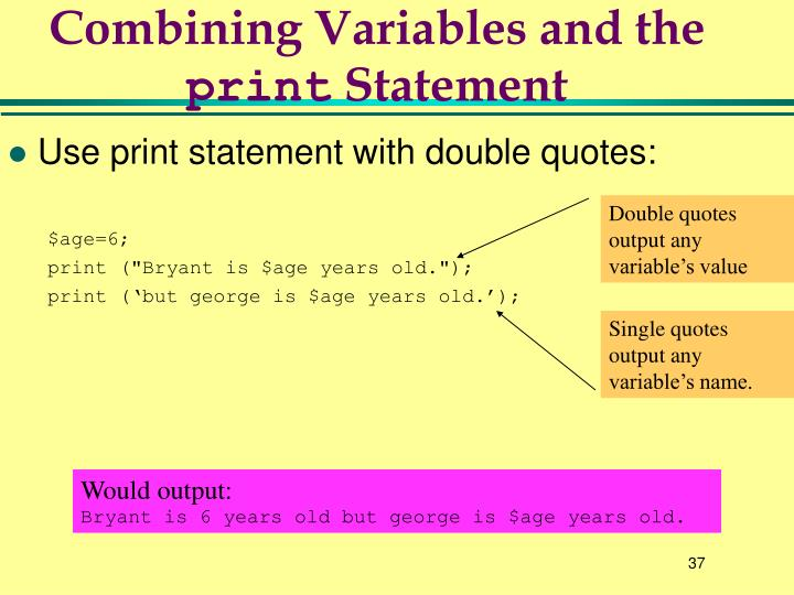 Combining Variables and the