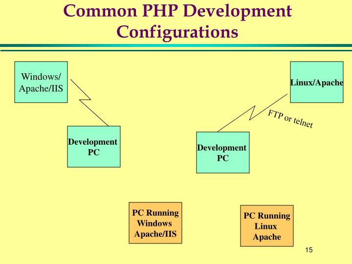 Common PHP Development Configurations