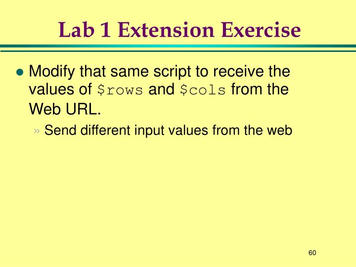 Lab 1 Extension Exercise
