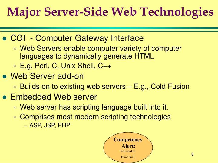 Major Server-Side Web Technologies