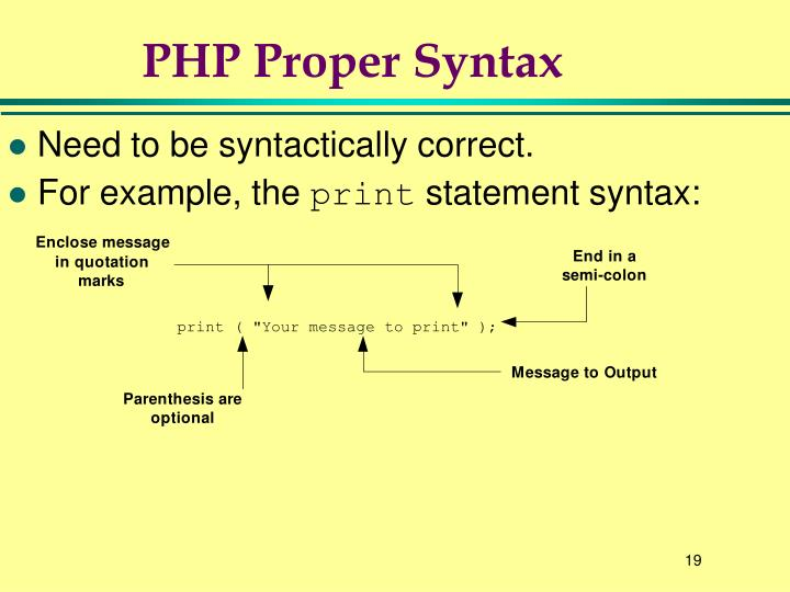 PHP Proper Syntax