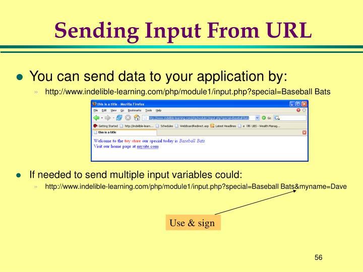 Sending Input From URL