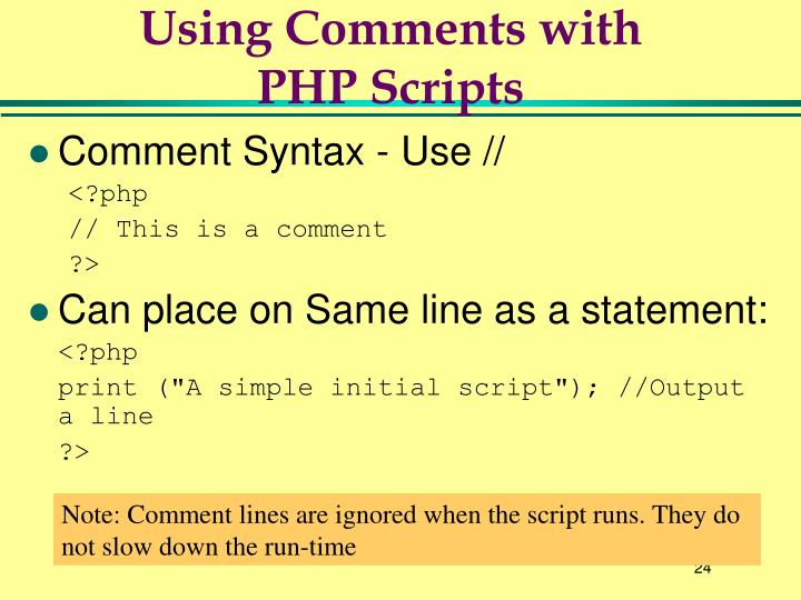 Using Comments with
