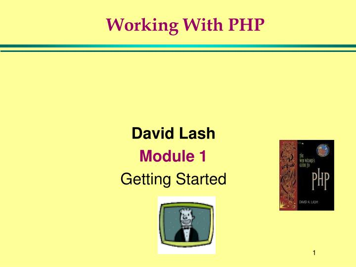 Working with php