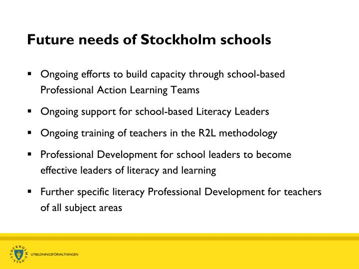 Future needs of Stockholm schools