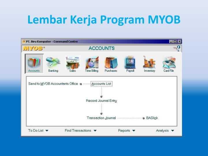 Lembar Kerja Program MYOB