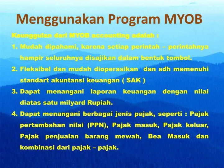 Menggunakan Program MYOB