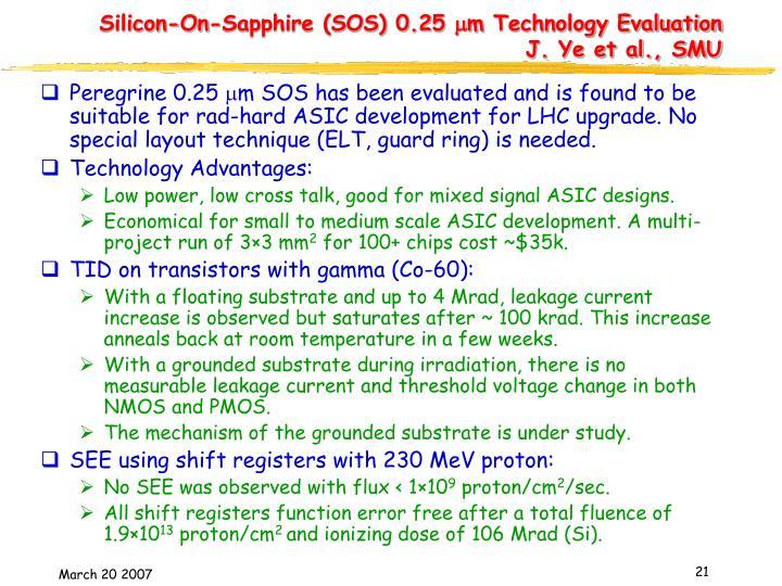Silicon-On-Sapphire (SOS) 0.25