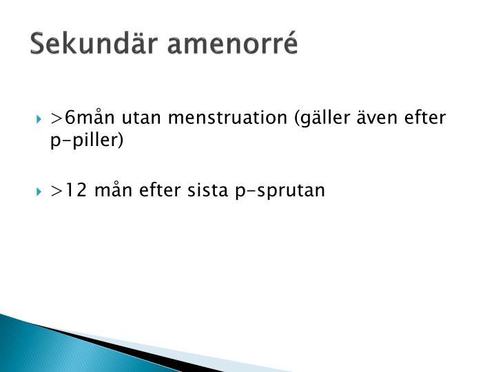 Sekundär amenorré