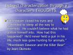 indirect characterization through a character s thoughts