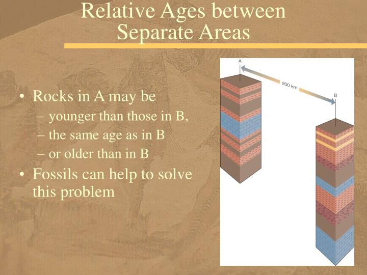 Relative Ages between