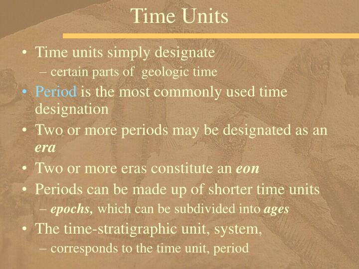 Time Units