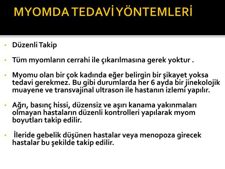 MYOMDA TEDAVİ YÖNTEMLERİ