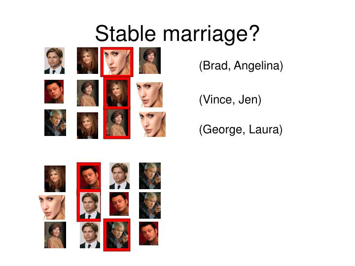 Stable marriage?