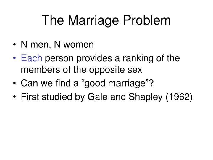 The Marriage Problem