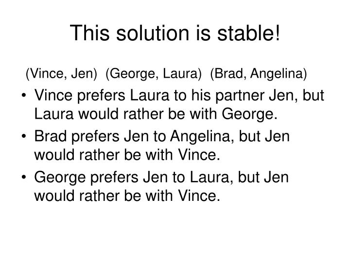 This solution is stable!