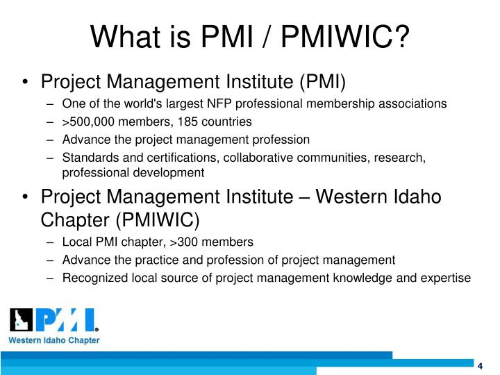 What is PMI / PMIWIC?