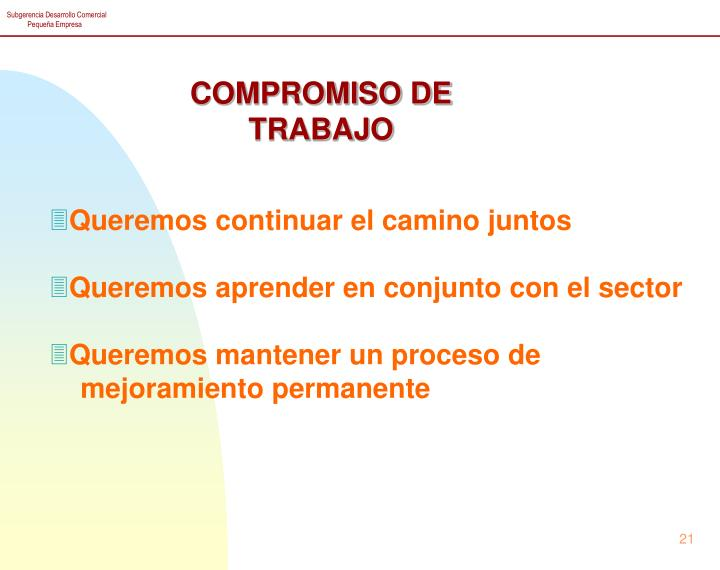 COMPROMISO DE TRABAJO