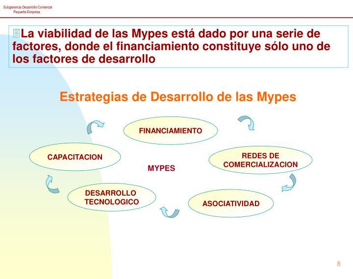 La viabilidad de las Mypes está dado por una serie de factores, donde