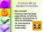 causas de la desmotivaci n