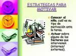 estrategias para motivar