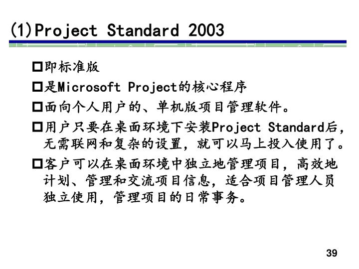 (1)Project Standard 2003