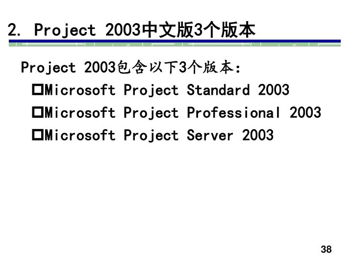 2. Project 2003