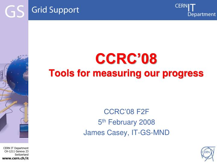 Ccrc 08 tools for measuring our progress