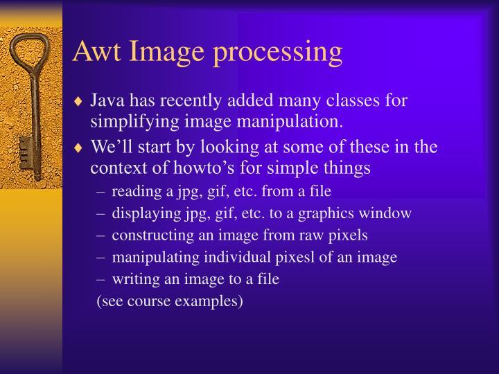 Awt Image processing