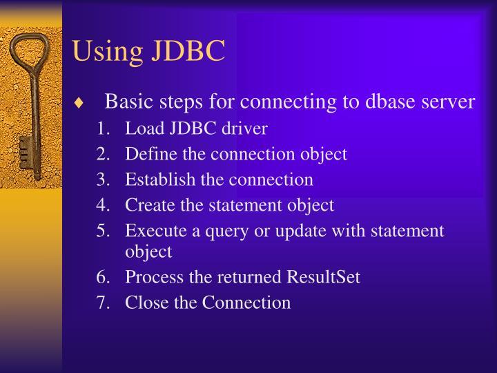 Using JDBC